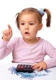 κορίτσι που λίγα χρήματα π&al Στοκ εικόνα με δικαίωμα ελεύθερης χρήσης