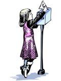 κορίτσι που λίγο ταχυδρομείο στέλνει απεικόνιση αποθεμάτων