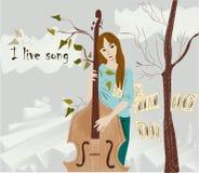 Κορίτσι που παίζει το όργανο Στοκ Εικόνα