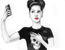 Κορίτσι που παίρνει ένα selfie Στοκ Εικόνες