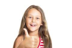 Κορίτσι που παρουσιάζει χειρονομία ότι όλα είναι λεπτά Στοκ φωτογραφίες με δικαίωμα ελεύθερης χρήσης