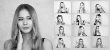 κορίτσι που πιέζεται ελκυστικό Ξανθός με στοκ φωτογραφία με δικαίωμα ελεύθερης χρήσης