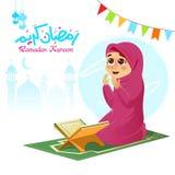 Κορίτσι που προσεύχεται για τον Αλλάχ Στοκ φωτογραφίες με δικαίωμα ελεύθερης χρήσης