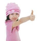 Κορίτσι που τεντώνεται έξω μπροστά από ένα χέρι στοκ εικόνα με δικαίωμα ελεύθερης χρήσης