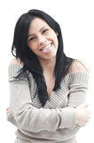 κορίτσι που χαμογελά έξω &t στοκ εικόνες με δικαίωμα ελεύθερης χρήσης