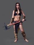 Κορίτσι πολεμιστών αρχαίο Στοκ Εικόνες