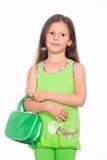 κορίτσι πράσινο λίγα Στοκ Εικόνα