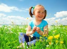 κορίτσι πράσινο λίγο παιχν Στοκ φωτογραφία με δικαίωμα ελεύθερης χρήσης