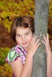 κορίτσι πτώσης Στοκ Φωτογραφίες