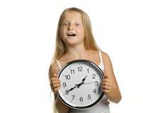 κορίτσι ρολογιών μεγάλο Στοκ φωτογραφία με δικαίωμα ελεύθερης χρήσης