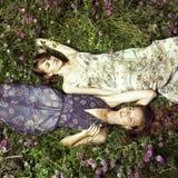 κορίτσι ρομαντικά δύο Στοκ εικόνα με δικαίωμα ελεύθερης χρήσης