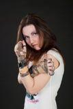 κορίτσι ροπάλων του μπέιζμ& Στοκ Εικόνα