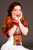 κορίτσι ρωσικά μόδας Στοκ εικόνα με δικαίωμα ελεύθερης χρήσης
