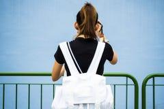 Κορίτσι σακιδίων πλάτης Στοκ εικόνες με δικαίωμα ελεύθερης χρήσης