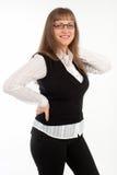 Κορίτσι σε ένα επιχειρησιακό κοστούμι Στοκ φωτογραφία με δικαίωμα ελεύθερης χρήσης