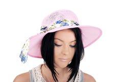 Κορίτσι σε ένα θερινό καπέλο Στοκ Εικόνα