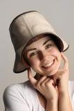 Κορίτσι σε ένα καπέλο κάουμποϋ Στοκ εικόνα με δικαίωμα ελεύθερης χρήσης