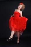 Κορίτσι κόκκινα dres Στοκ Φωτογραφίες