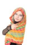 Κορίτσι σε ένα μαντίλι Στοκ εικόνες με δικαίωμα ελεύθερης χρήσης