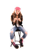 Κορίτσι σε μια έδρα Στοκ Εικόνα