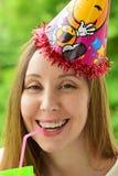 Κορίτσι σε μια εορταστική ΚΑΠ στοκ φωτογραφίες με δικαίωμα ελεύθερης χρήσης