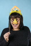 Κορίτσι σε μια εορταστική μάσκα Στοκ Εικόνες