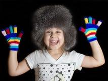 Κορίτσι σε μια ΚΑΠ Στοκ Εικόνα