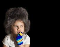 Κορίτσι σε μια ΚΑΠ Στοκ φωτογραφία με δικαίωμα ελεύθερης χρήσης
