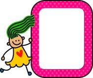 Κορίτσι σημαδιών διανυσματική απεικόνιση