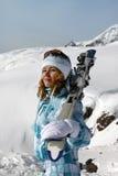 Κορίτσι σκιέρ στοκ εικόνες με δικαίωμα ελεύθερης χρήσης