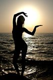 Κορίτσι σκιαγραφιών στοκ φωτογραφίες