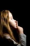 κορίτσι σκοταδιού λίγα Στοκ Φωτογραφίες