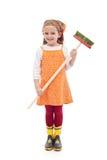 κορίτσι σκουπών μποτών λίγο λάστιχο Στοκ φωτογραφία με δικαίωμα ελεύθερης χρήσης