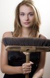 κορίτσι σκουπών Στοκ Φωτογραφίες