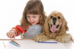 κορίτσι σκυλιών Στοκ εικόνες με δικαίωμα ελεύθερης χρήσης