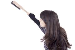 κορίτσι σκόνης βουρτσών Στοκ φωτογραφίες με δικαίωμα ελεύθερης χρήσης