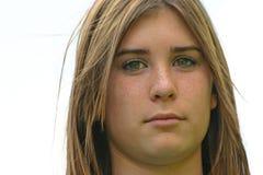κορίτσι σοβαρό Στοκ Φωτογραφία