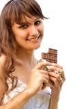 κορίτσι σοκολάτας Στοκ Φωτογραφία