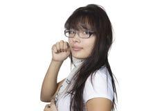 Κορίτσι στα γυαλιά Στοκ Εικόνες