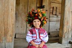 Κορίτσι στα ουκρανικά εθνικά ενδύματα Στοκ φωτογραφία με δικαίωμα ελεύθερης χρήσης