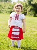 Κορίτσι στα ρωσικά λαϊκά ενδύματα Στοκ εικόνες με δικαίωμα ελεύθερης χρήσης