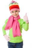Κορίτσι στα χειμερινά ενδύματα Στοκ Εικόνες