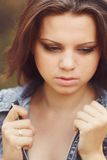 Κορίτσι στην άμμο Στοκ Φωτογραφίες