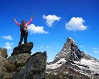 Κορίτσι στην κορυφή Στοκ φωτογραφία με δικαίωμα ελεύθερης χρήσης