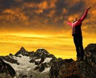 Κορίτσι στην κορυφή Στοκ Εικόνες