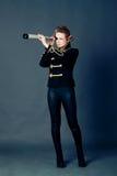 Κορίτσι στην ντεμοντέ στολή Στοκ Φωτογραφίες
