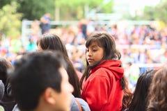 Κορίτσι στην παρέλαση Wong στη Λίμα, Περού Στοκ Φωτογραφία