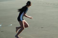 Κορίτσι στην παραλία Στοκ Φωτογραφία