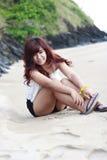 Κορίτσι στην παραλία Στοκ Εικόνες