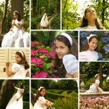 Κορίτσι στην πρώτη ημέρα κοινωνίας της Στοκ Εικόνες